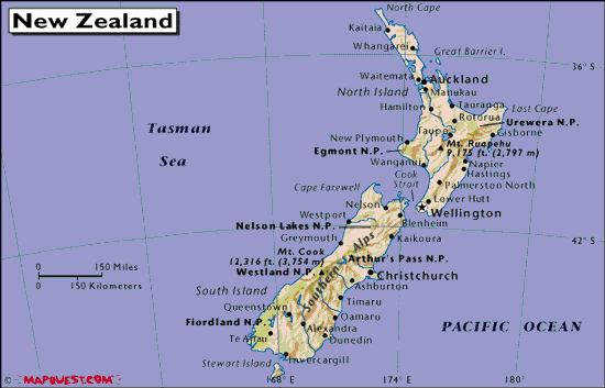 New Zealand Mountains Map.Jack And Nan S International Travel Photos Tales New Zealand